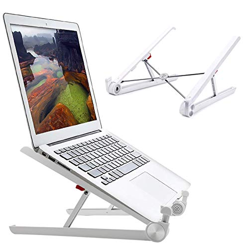 Portable Laptop Desk Stand Foldable, Ergonomic Computer Stand Cooling Pad, Ventilated Laptop Riser Compatible with MacBook Pro Air, Notebook, Lenovo, Dell, More 10 16 Laptops