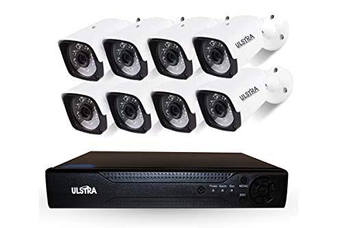 ULSTRA Kit 8 cámaras de Seguridad AHD Accesorios Incluidos Circuito Cerrado Ver en Celular o PC Sistema…