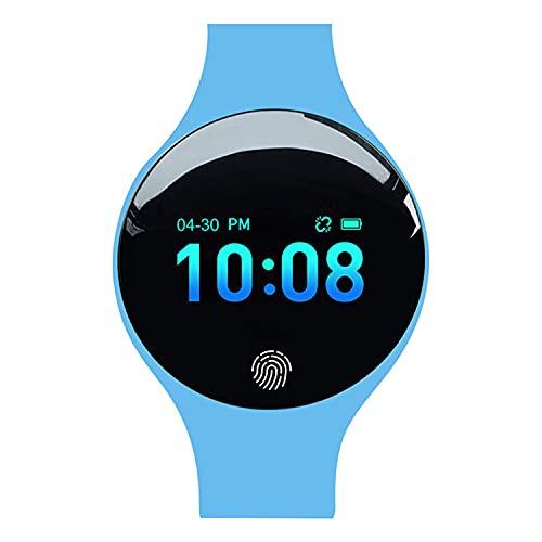 XYQC Relojes Inteligentes para Hombres, Mujeres, Pantalla táctil Completa Ip67, podómetro a Prueba de Agua, Fitness con Monitor de sueño, Reloj Inteligente para teléfonos Android e iOS,Azul