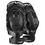 EVS Sports Unisex-Adult Axis Sport Knee Brace-Pair (Black, Medium), 2 Pack