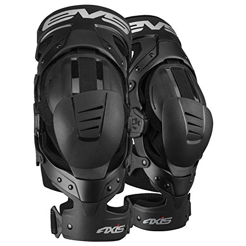 EVS Sports Unisex-Adult Axis Sport Knee Brace - Pair (Black, Large), 2 Pack