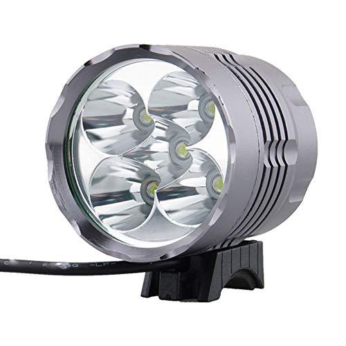 KIUY Fahrradscheinwerfer 6000 Lumen LED Fahrradlichtset, wiederaufladbarer Fahrradscheinwerferscheinwerfer mit 4400mAh Silikonbatterie, 3 Modi Fahrradlichter Frontscheinwerfer für Fahrradsicherheit