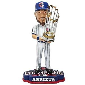 "FOCO MLB Chicago Cubs Jake Arrieta Unisex Arrieta J. #49 2016 World Series Champions 8"" Bobble"