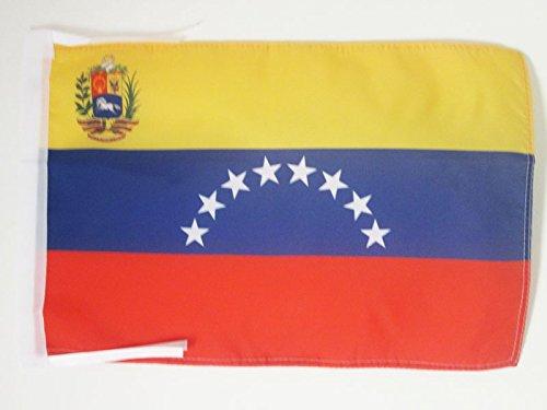 AZ FLAG Bandera de Venezuela 45x30cm - BANDERINA VENEZUELANA 30 x 45 cm cordeles