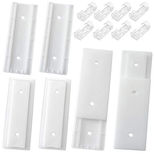 4 unidades de soporte autoadhesivo para tira de alimentación fijador de pared con 20 clips organizadores de cables transparentes para control remoto, enrutador, escritorio, cocina, hogar y oficina