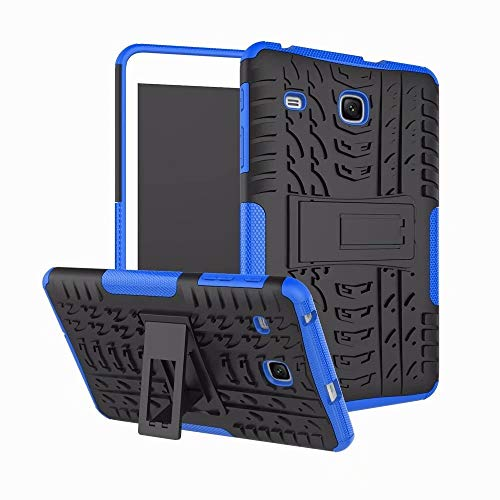 RZL PAD & TAB cases For Samsung Galaxy Tab E 8.0 SM-T377 T377V, High Duty Stand Case Silicon Shockproof Case for Samsung Tab E 8.0 T377 T377V (Color : Blue)