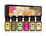 Afternoon Tea Set of 6 Premium Grade Fragrance Oils - Fig, White Tea, Green Tea, Sugar Cookie, Cucumber Melon, and Berries & Cream