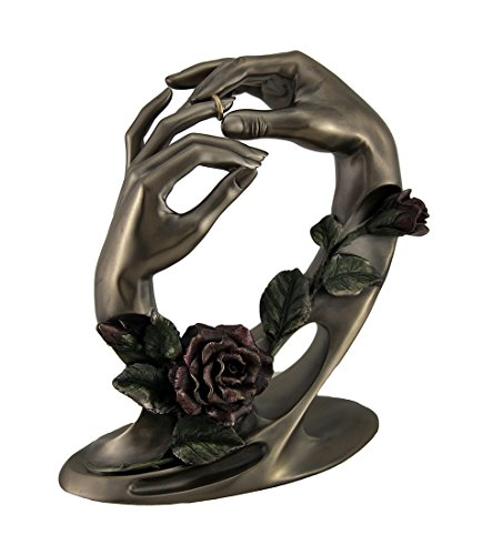 Veronese Design Covenant of Unity Putting The Ring On Wedding Hands Sculpture
