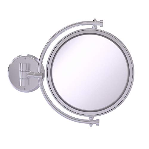 Allied Brass WM-4/2X 8 Inch Wall Mounted Make-Up Mirror 2X Magnification Schminkspiegel, chrom seidenglänzend
