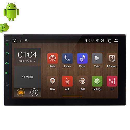 EINCAR Doble DIN Estéreo para automóvil Radio con Pantalla táctil de 7 Pulgadas Android 10.0 Unidad Principal 2 DIN Sistema de navegación GPS WiFi 4G 3G USB SD 1080P Video Control del Volante Enlace