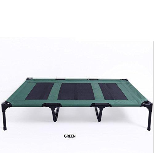 LHFJ hoogslaper voor huisdieren, camping, draagbaar, waterdicht, voor buiten, camping, huisdiermand, maat S-XL (rood, groen, camo) XL Groen