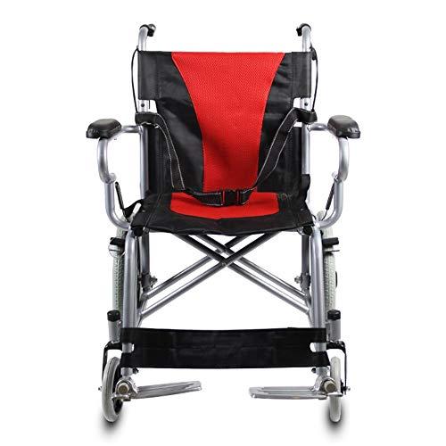 Stalen rolstoel-kinderopvouwbare lichtgewicht rolstoel, dubbele remmen, massieve banden, geschikt voor thuis en medisch