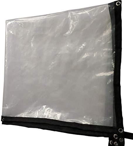 HUJPI transparant dekzeil, waterdicht, versterkte randbescherming, dekzeil met metalen oogjes, scheurbestendig, licht, dikte 0,12 mm, 120 g/m2 3X4M