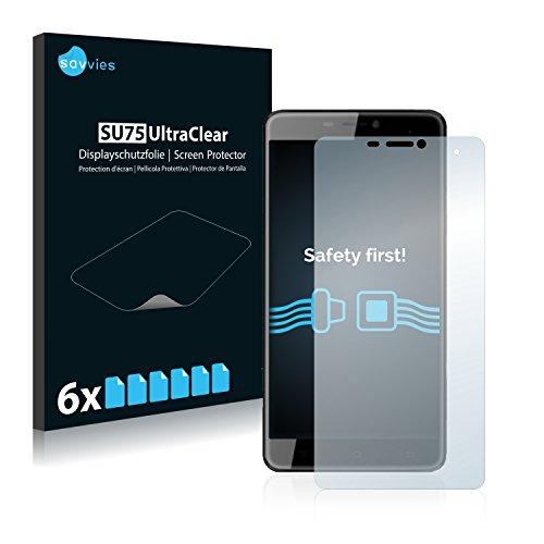 Savvies 6X Schutzfolie kompatibel mit Cubot Max Bildschirmschutz-Folie Ultra-transparent