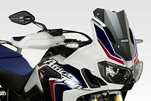 CRF1000 Africa Twin - Windschutzscheibe 'Exential' (R-0855) - Aluminium Windschild Windabweiser Scheibe - Hardware-Bolzen Enthalten - Motorradzubehör De Pretto Moto (DPM Race) - 100% Made in Italy