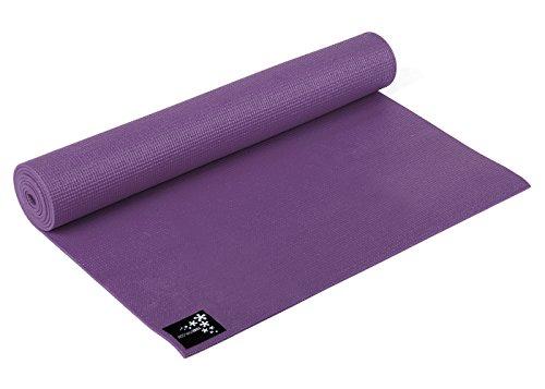 Yogistar Yogamatte Plus - rutschfest und extra lang - Aubergine