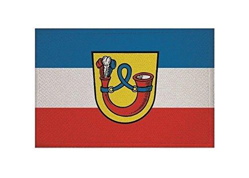 U24 Aufnäher Bad Urach Fahne Flagge Aufbügler Patch 9 x 6 cm