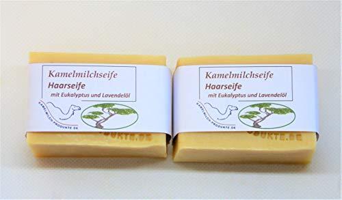 Kamelmilchseife Haarseife, mit Eukalyptus- und Lavendelöl