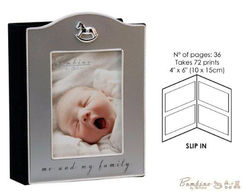 'Bambino Baby Christening Gifts Bilderrahmen Schaukelpferd Icon Foto Album Me & My Family