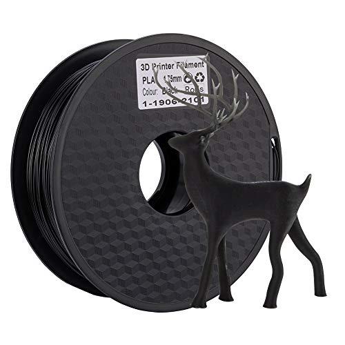 【Creality 3D 】3Dプリンター用 (1KG)純正品 PLAフィラメントPLA 寸法精度+/- 0.02 mm、1.75mm 3Dペン用 スプール造形材料 樹脂材料 (ブラック)