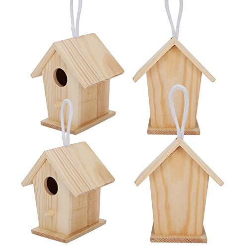 Mothinessto Nidos De Pájaros, 4 Piezas De Adorno De Casa De Pájaros Mini para Decoración Al Aire Libre