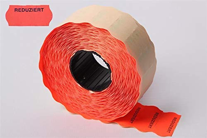 Haftetiketten für Handauszeichner 26 x 12mm fluor rot mit mit mit rotuziert  Aufdruck - 54.000 Etiketten für Preisauszeichner - 36 Rollen B07GR266SY  | Online einkaufen  3f174c