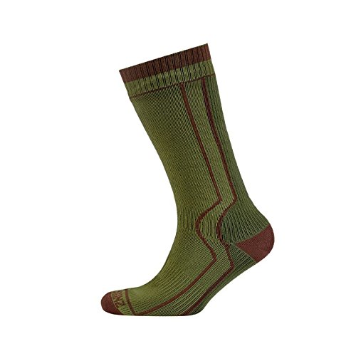 SealSkinz Trekking Sock Randonnée étanches Mixte, Green/Olive, FR : Chaussettes : 35-38 (Taille Fabricant : Small)