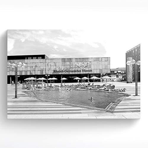 stadtecken® Poster KÖLN I Thema: Romeinse zwembad SW I kunstdruk I decoratieve poster I wandafbeelding I souvenir I geschenk I cadeau-idee - met varianten 30x20 cm