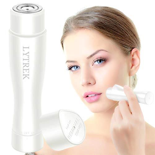 Elektrorasierer Damen,Gesichtshaarentferner für Frauen IP Wasserdichte Haarentfernung für Lippen Kinn Schnurrbart Körperhaar an den Beinen und Achseln