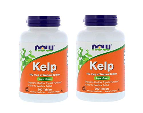 Now Foods Kelp Super Green 150 Micrograms of Natural Iodine as a Dietary Supplement (200 Tablets) Pack of 2