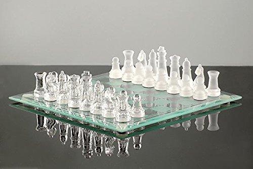 JOSKA Bodenmais Glasspiel Schach - Spiel aus Glas, 35x35cm
