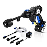 Electric Pressure Washer mrliance 2x40V Portable Power Cleaner Cordless Pressure Washer Batteries Power Cleaner with 6 in 1 Nozzle, Accessories Kit and a Charger Included (Black)