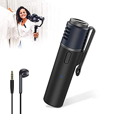 Wireless Lavalier Microphone, Bluetooth Clip-on External Microphones, Noise Reduction, Language Recognize, for iPhone Android iPad Vlogging Video Content Create Teaching Interview