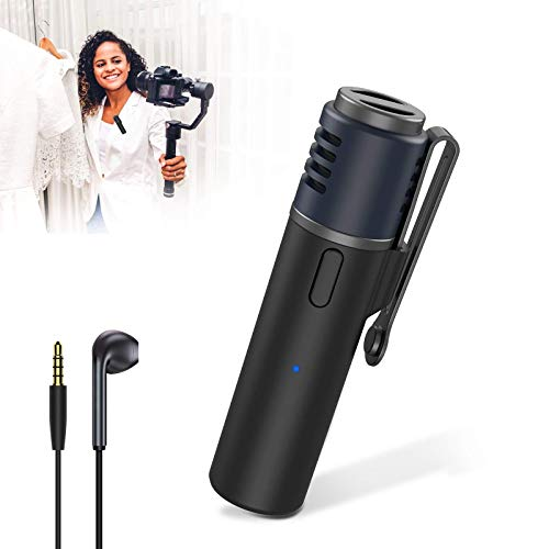 JBHOO Micrófono de Solapa Bluetooth 15M Clip de Solapa Inalámbrico en Micrófono Recargable Cancelación de Ruido SmartMic para iPhone Android Grabación de Video Entrevista Enseñanza Podcast Vlogging