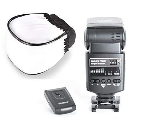 Simpex 621 RX Universal Flash with Wireless Trigger and Carrying Pouch and Free Flash Diffuser