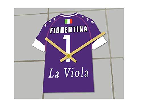 MyShirt123 FIORENTINA FC Football Club - Orologio da calcio per camicie da calcio – qualsiasi nome e qualsiasi numero – che si sceglie!