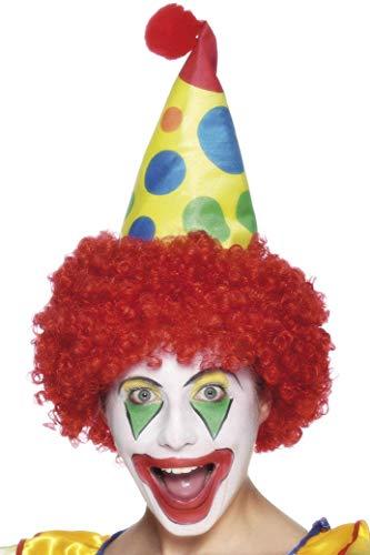 Smiffys Unisex Clown-Hut mit Perücke, Bunt, One Size, 26295