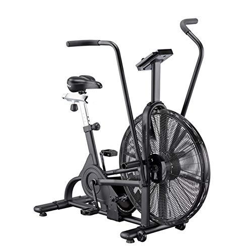 SMILE Bicicleta estática de Ventilador con Sistema de Resistencia al Aire - Negro - Equipamiento de Gimnasio de Resistencia Infinita para Uso doméstico/Exterior