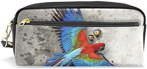 Estuche de Lápices para bolígrafo para pájaros con loro estacionario Bolsas para lápices portátil para escolares para cosméticos para maquillaje