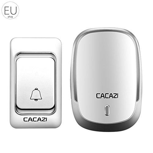 Demino Intelligentes Haus Türklingel Digital AC Türklingel drahtlose Türklingel Smart Home Türklingel Silber- EU Plug