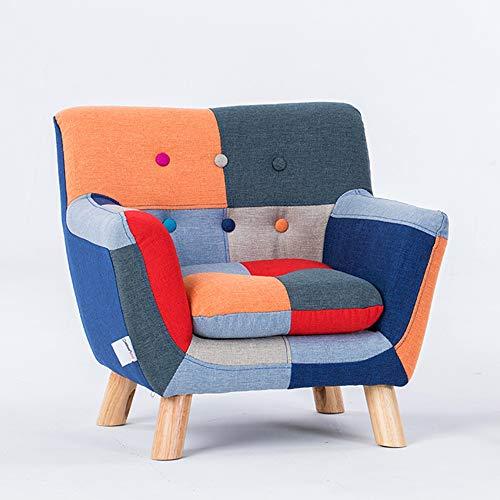 HAKN Canapé pour enfant, siège de canapé en tissu mignon bébé dessin animé (Couleur : A)