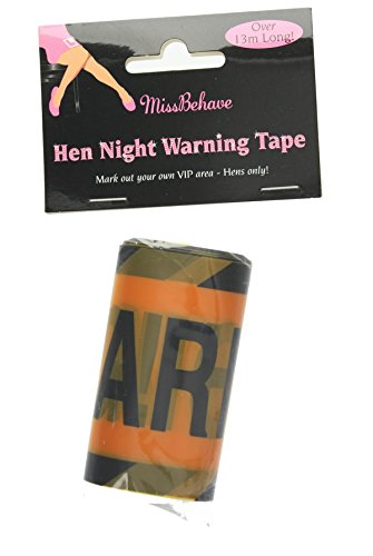 Hen Night Party Warning Tape 13.7m