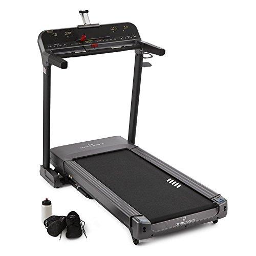 Capital Sports Pacemaker Z-77 - Laufband, Heimtrainer, Trainingscomputer, 5 Programme, LCD-Display, Pulsmesser, max. 15% Neigung, klappbar, schwarz