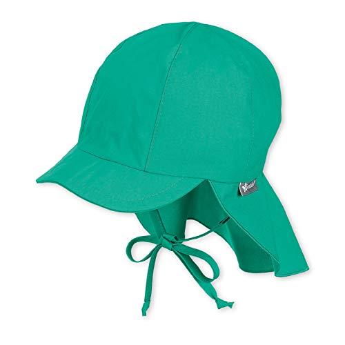 Sterntaler Schirmmütze mit Bindebändern und Nackenschutz, Alter: 12-18 Monate, Größe: 49, Grün (Pfefferminz)