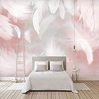 Iusasdz カスタム大3D壁紙壁画シンプルなファッション手描きの羽抽象的な背景の壁の装飾壁紙壁画-150X120Cm