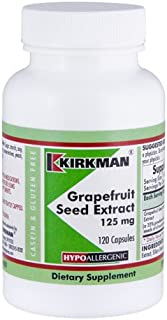 Kirkman Grapefruit Seed Extract 125 mg - Hypoallergenic || 120 Vegetarian Capsules || Supports the immune system || Gluten and Casein Free || Capsules are plant based