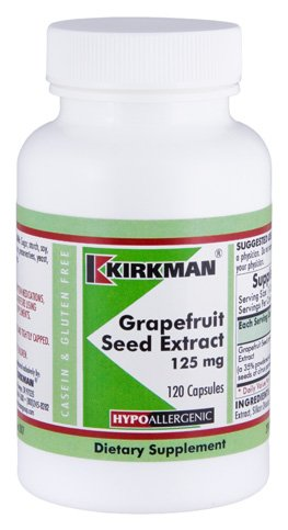 Grapefruit Seed Extract 125 mg Capsules - Hypoallergenic, 120 count
