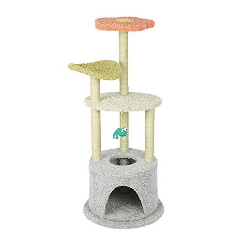 JCXOZ Árbol de Gato, Torre de Gato pequeño, condominio, rasguño Post Kitty Activity Center Kitten Play House for Gatito Pequeños Gatos Escalada Jugando Arboles para Gatos (Color : B)