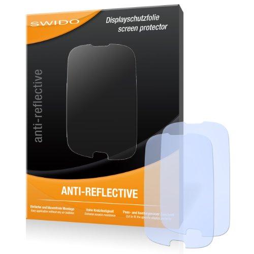SWIDO X033117 antireflektierend hartbeschichtet Displayschutzfolie für Huawei Ascend Y100 U8185/Y-100 U-8185 (2-er Pack)
