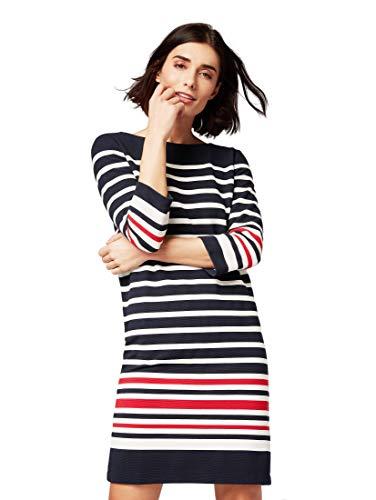 TOM TAILOR für Frauen Kleider & Jumpsuits Gestreiftes Kleid Sky Captain Blue, 36